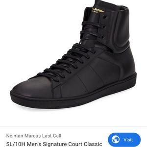 Saint Laurent Men's SL/01H High Top Sneaker